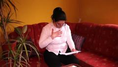 Woman Reading Disturbing Letter Stock Footage