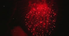 4K Firework display composition from several clips Stock Footage