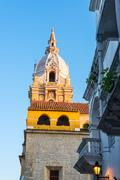 Cartagena cathedral spire Stock Photos