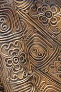 brass filigree art. - stock photo