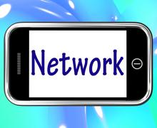 Network smartphone means online connections and contacts Piirros