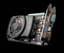Graphics card on isolated background - stock photo