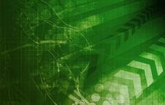 future technology - stock illustration