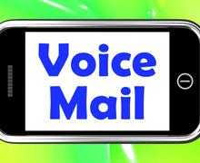 Voice mail on phone shows talk to leave message Stock Illustration