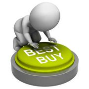 best buy button shows superior product or deal - stock illustration