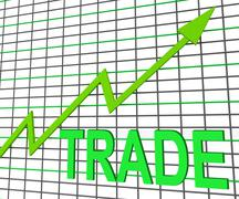 Stock Illustration of trade chart graph shows increasing trade or trading