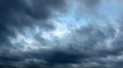Stormy clouds announce storm approaches Stock Footage