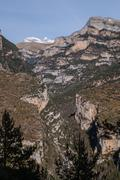 pinnacles in anisclo valley, ordesa national park, pyrenees, huesca, aragon,  - stock photo