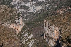 pinnacles in anisclo valley, ordesa national park, pyrenees, huesca, aragon,  - stock photo