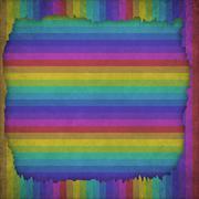 Multicolor Sunbeams grunge background. A vintage poster. Stock Illustration