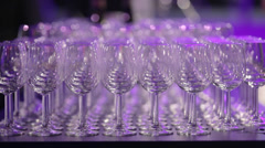 Wine glasses at classy event - stock footage
