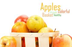 Fresh and colorful apples Stock Illustration