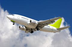 commercial jet plane - stock photo