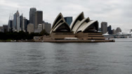 Stock Video Footage of Sydney Opera House and ocean liner