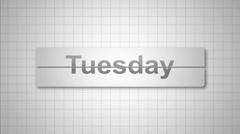 Days of the Week. Loose-leaf Calendar. - stock footage