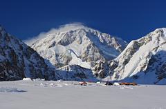 Base camp Mount McKinley Stock Photos