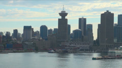 Canada - British Columbia - City of Vancouver - Coastal Seaport City View Stock Footage