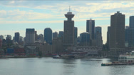 Stock Video Footage of Canada - British Columbia - City of Vancouver - Coastal Seaport City View