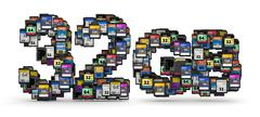 Memory cards capacity Stock Illustration