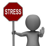 Stress stop sign shows stopping tension and pressure Piirros