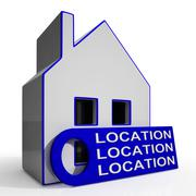 location location location house means perfect area and home - stock illustration