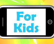 Kakaroita puhelimen tarkoittaa lasten toimintaa Piirros