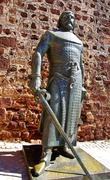 Knight statue at the castle of silves, portugal Stock Photos