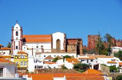 Town silves in l algarve, portugal Stock Photos