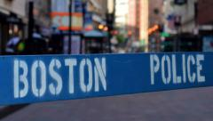 Boston Police Stock Footage