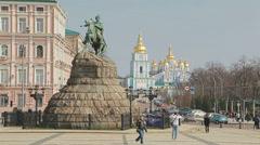 The Khmelnytsky Monument Stock Footage