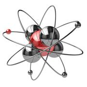 Abstract chemical concept. atom or molecule sign. Stock Illustration