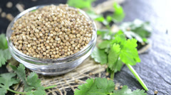 Coriander seeds (not loopable) Stock Footage