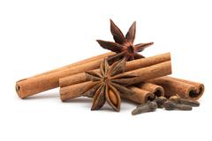 cloves, anise and cinnamon - stock photo