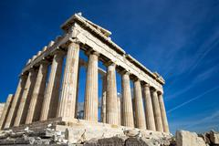 parthenon on the acropolis - stock photo