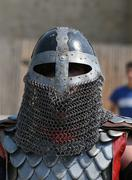 Medieval Knight in armor Stock Photos