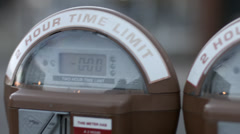Close up detail of an expired parking meter Stock Footage