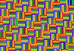 rainbow pattern of crayons - stock illustration