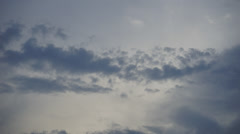 Timelapse of clouds formation before heavy raining downpour Stock Footage