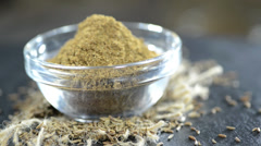 Caraway powder (not loopable) Stock Footage