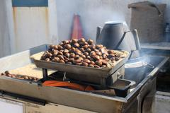 Chestnuts roasting - stock photo