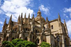 Segovia cathedral, a roman catholic religious church in segovia, spain. Stock Photos