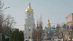 Saint Sophia Cathedral Stock Footage