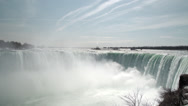 Stock Video Footage of Early Spring at the Horseshoe Falls