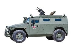 Armored car tiger isolated Stock Photos
