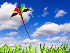 Multicolored kite Stock Photos