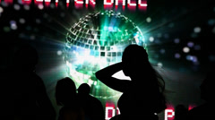 Disco dance party at the nightclub Stock Footage