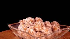Coconut balls Stock Footage