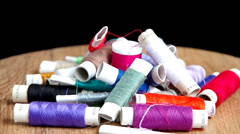 Sewing thread Stock Footage