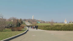 View to the Kiev Pechersk Lavra Stock Footage