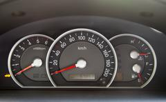 Speedometer  in the car Stock Photos